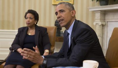 Prezydent USA Barack Obama i Loretta Lynch, prokurator generalny