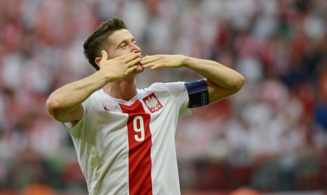 Robert Lewandowski strzelił trzy gole w meczu z Gruzją