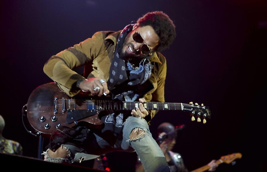 Lenny Kravitz podczas występu na duńskim festiwalu Concert at Sea