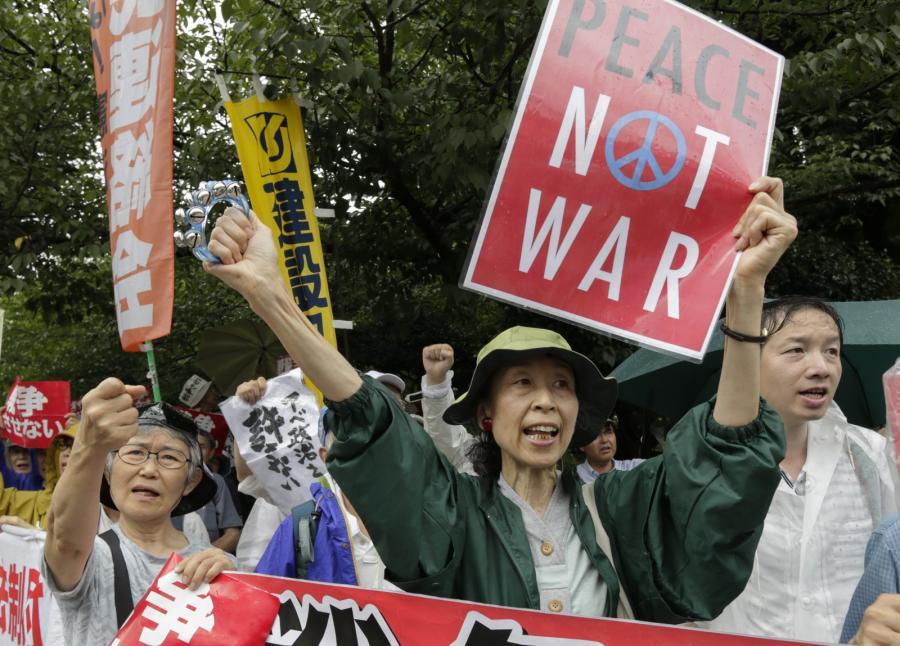 Protest w Japonii