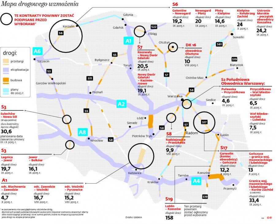 Mapa drogowego wzmożenia