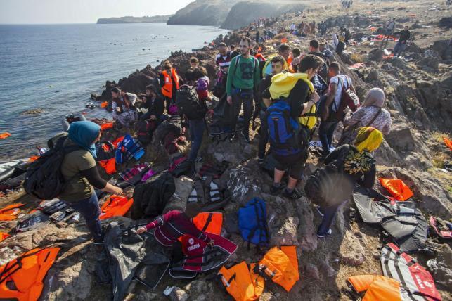 Uchodźcy na Lesbos