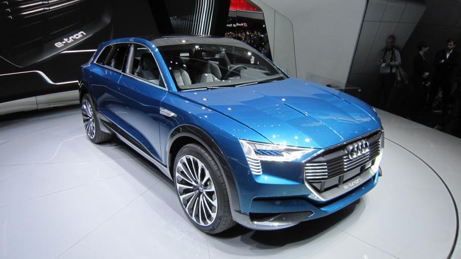 Audi e-tron quattro, które zaprojektował Kamil Łabanowicz