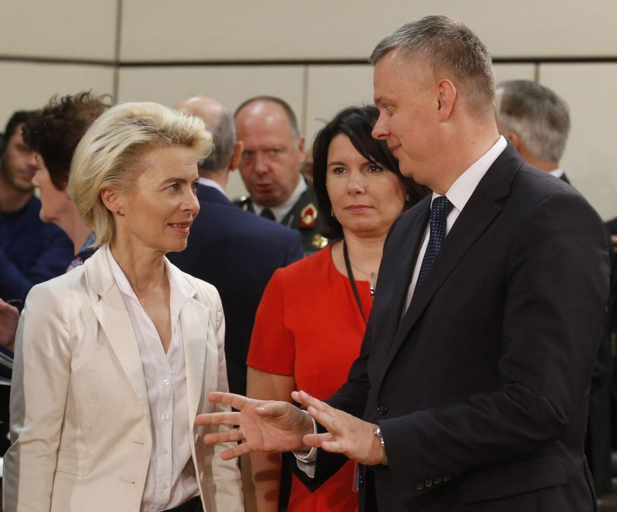 Ursula von der Leyen i Tomasz Siemoniak