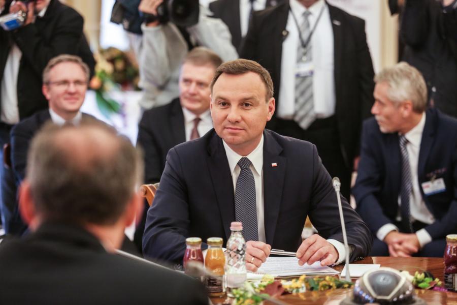 Prezydent Andrzej Duda na spotkaniu Grupy Wyszehradzkiej