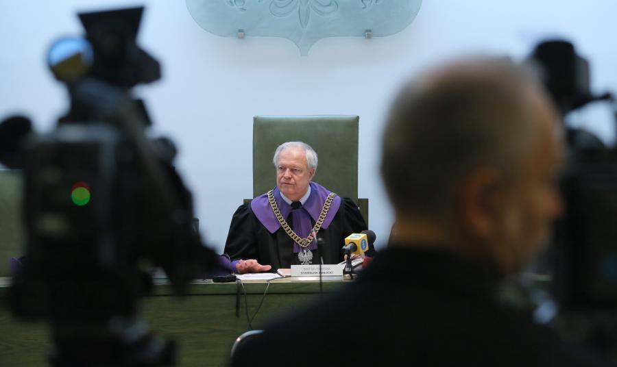 Sędzia Stanisław Zabłocki podczas rozprawy przed Sądem Najwyższym w Warszawie