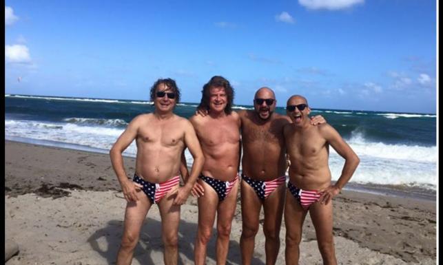 Męski wypad na Florydę... Gąsowski, Wodecki i Rozmus wypinają torsy