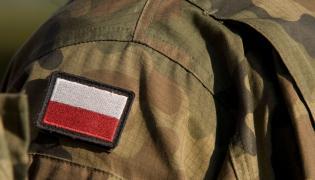 Polski żołnierz w mundurze