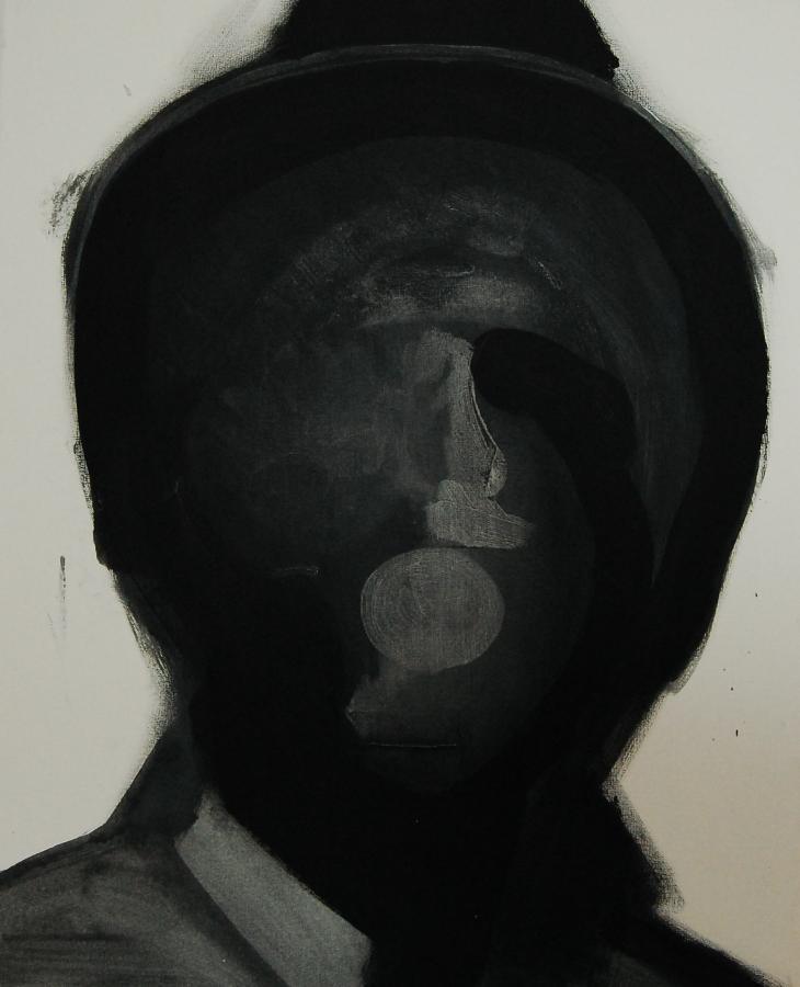 """""""Szkice do portretu 10"""", Cezary Bednarczyk, olej na płótnie, 50x40 cm"""