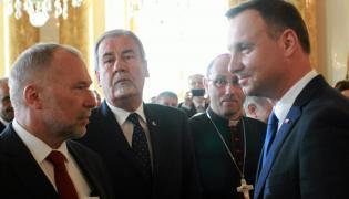 Jacek Michałowski i prezydent Andrzej Duda