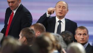 Władimir Putin na konferencji