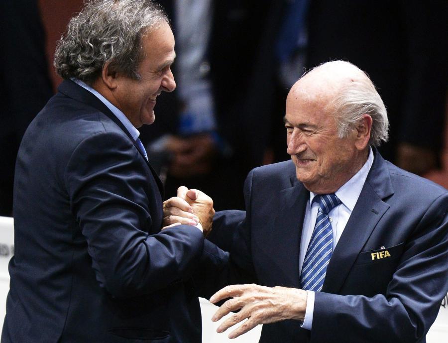 Michel Platini i Sepp Blatter