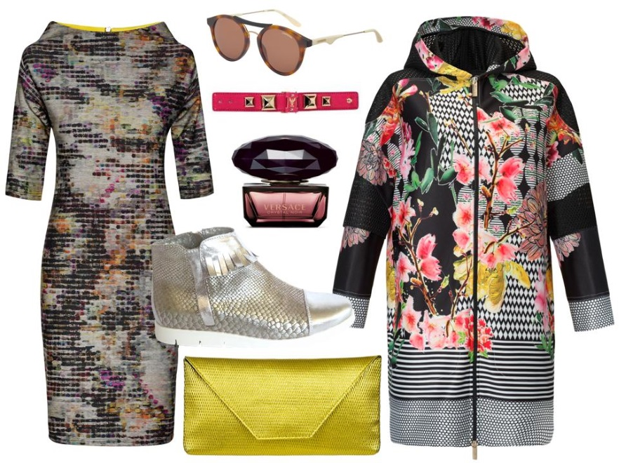 1e8a7c0babe83e Sukienka- Midori Feminie Fashion/midori.pl, kurtka-  CristinaEffe/cristinaeffe.