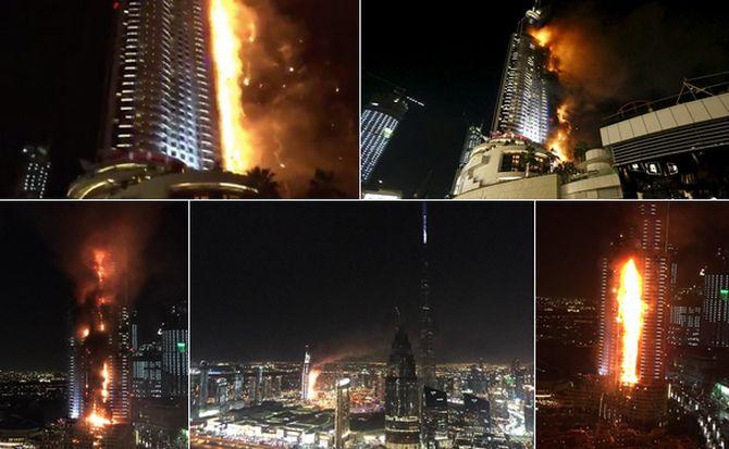 Pożar hotelu w Dubaju