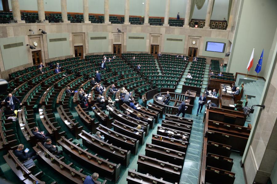 Sala obrad podczas posiedzenia Sejmu