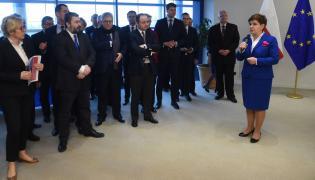 Spotkanie premier Beaty Szydło z polskimi europosłami w Parlamencie Europejskim