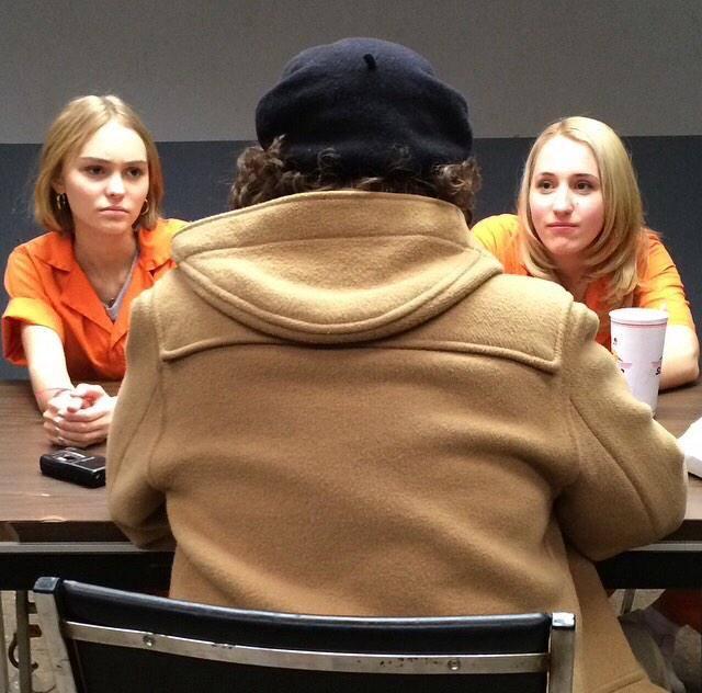 Lily-Rose Depp i Johnny Depp razem na planie