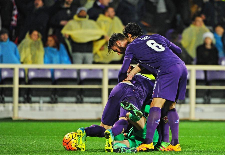 Radość piłkarzy Fiorentiny