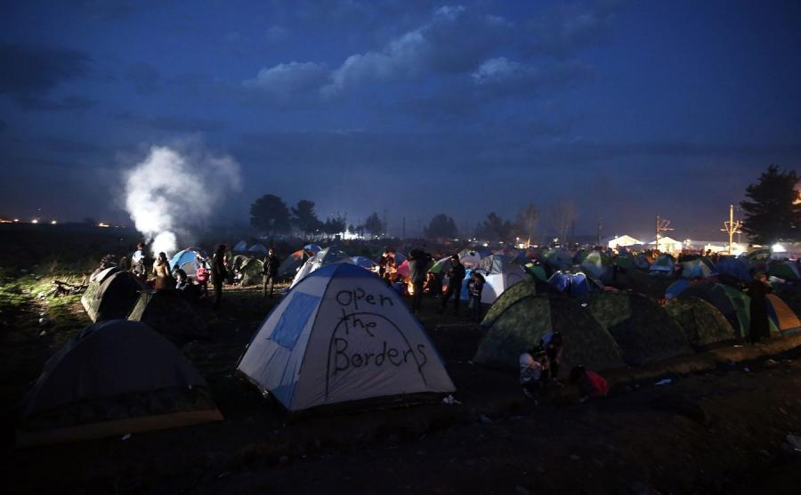Obóz imigrantów w Idomeni