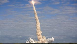 Start wahadłowca Atlantis z Przylądka Canaveral w 2009 roku na Florydzie