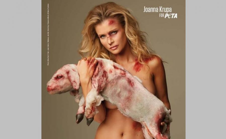 Joanna Krupa w kampanii PETA