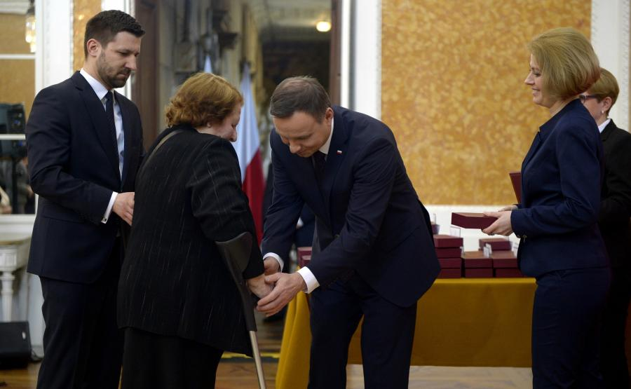 Prezydent Andrzej Duda odznaczył Polaków ratujących Żydów