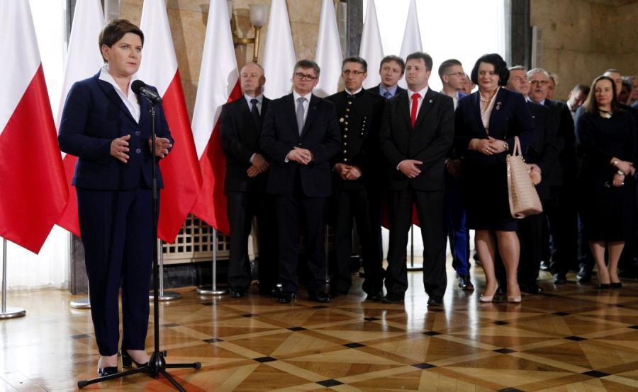 Premier Beata Szydło podczas uroczystości oficjalnego powołania Polskiej Grupy Górniczej