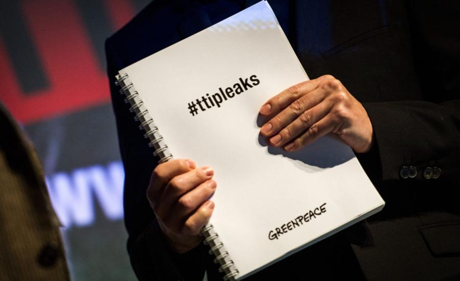 Dokumenty dotyczące negocjacji umowy TTIP, ujawnione przez Greenpeace