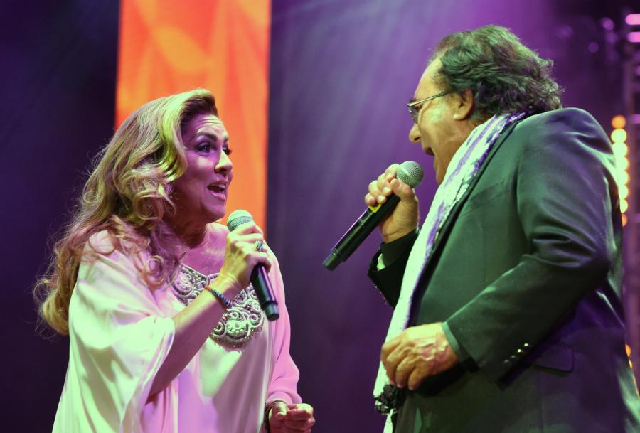 Al Bano i Romina Power podczas koncertu w Krakowie
