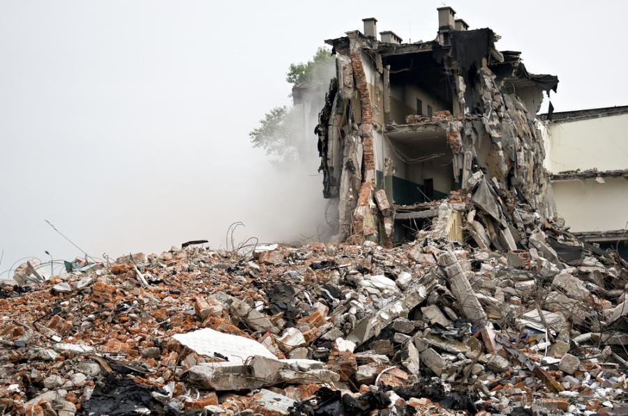 Wyburzony budynek