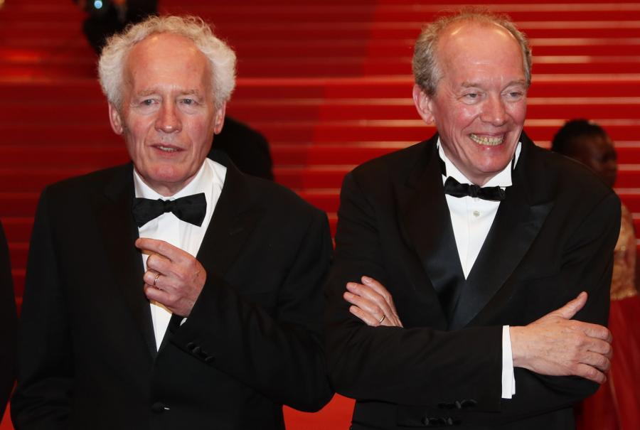 Jean-Pierre i Luc Dardenne podczas premiery filmu \