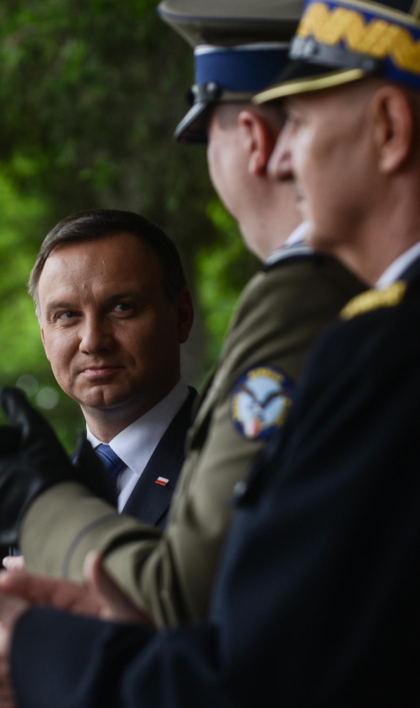 Prezydent Andrzej Duda podczas obchodów święta Biura Ochrony Rządu