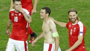 Szwajcarzy po meczu z Francją