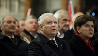 Jarosław Kaczyński wśród polityków PiS