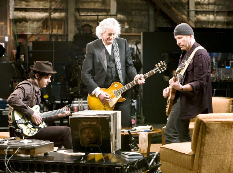 Jack White, Jimmy Page i The Edge w filmie \