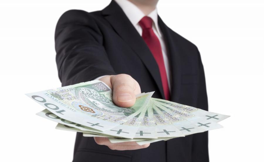 Mężczyzna z pieniędzmi