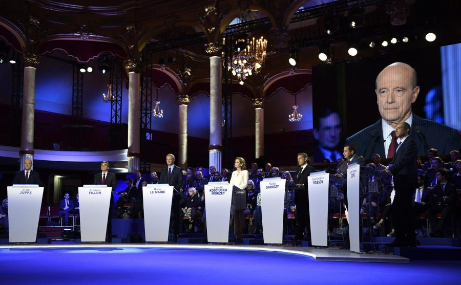 Debata podczas francuskich prawyborów