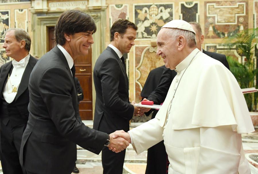 Niemieccy piłkarze spotkali się z papieżem Franciszkiem
