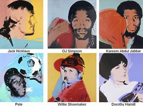 Słynni sportowcy pędzla Warhola zrabowani