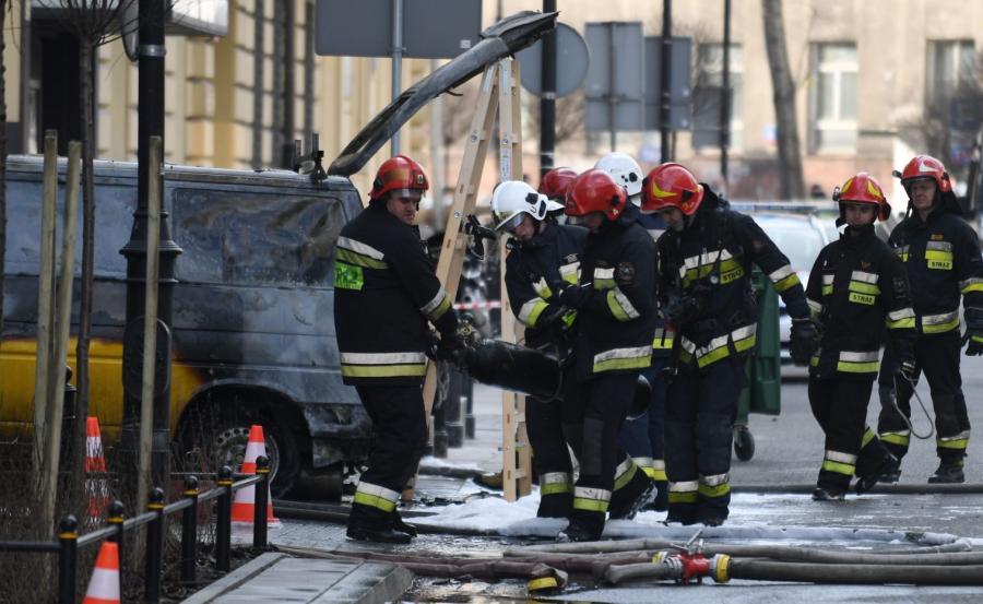 Wybuch samochodu